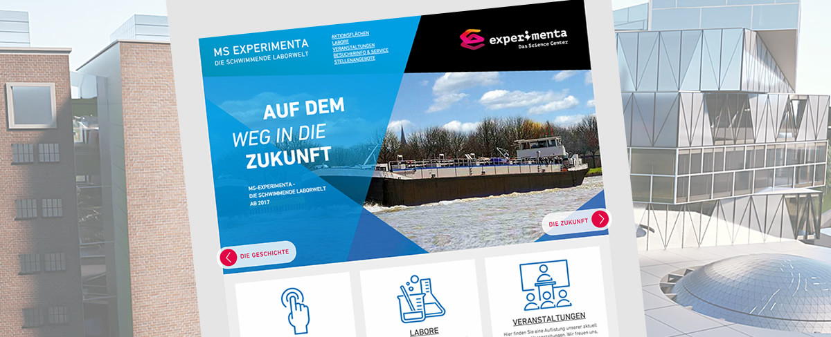 Relaunch experimenta - Das Science Center