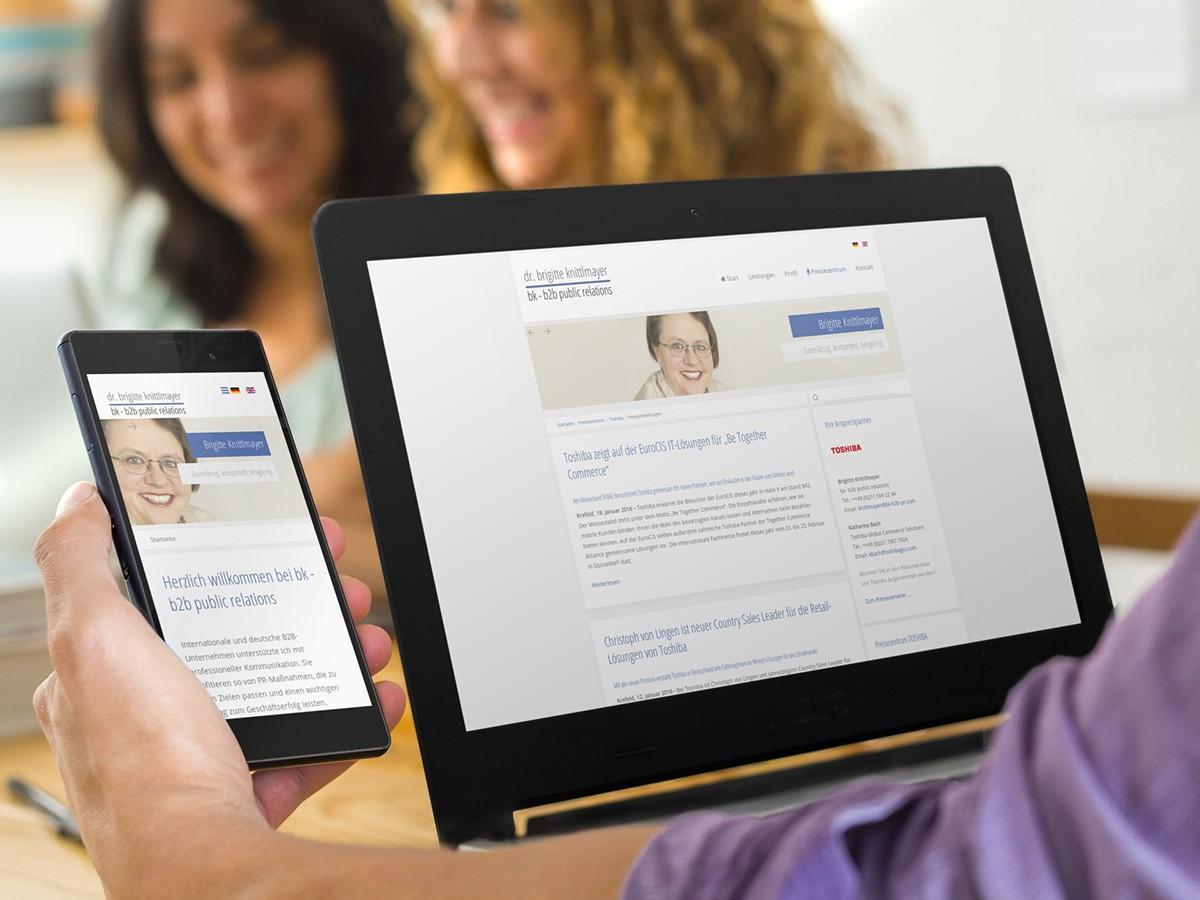 BK - B2B Public Relations - Dr. Brigitte Knittlmayer mit neuer Joomla! Website online
