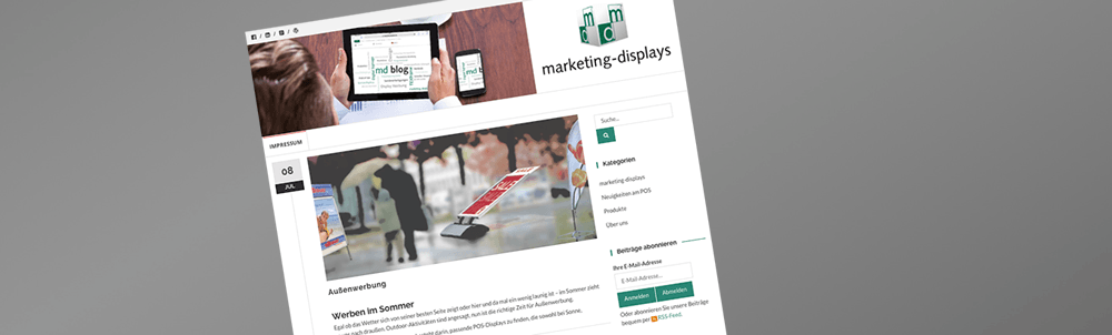 marketing-displays: Neuer Weblog zum Thema Werbung am Point of Sale