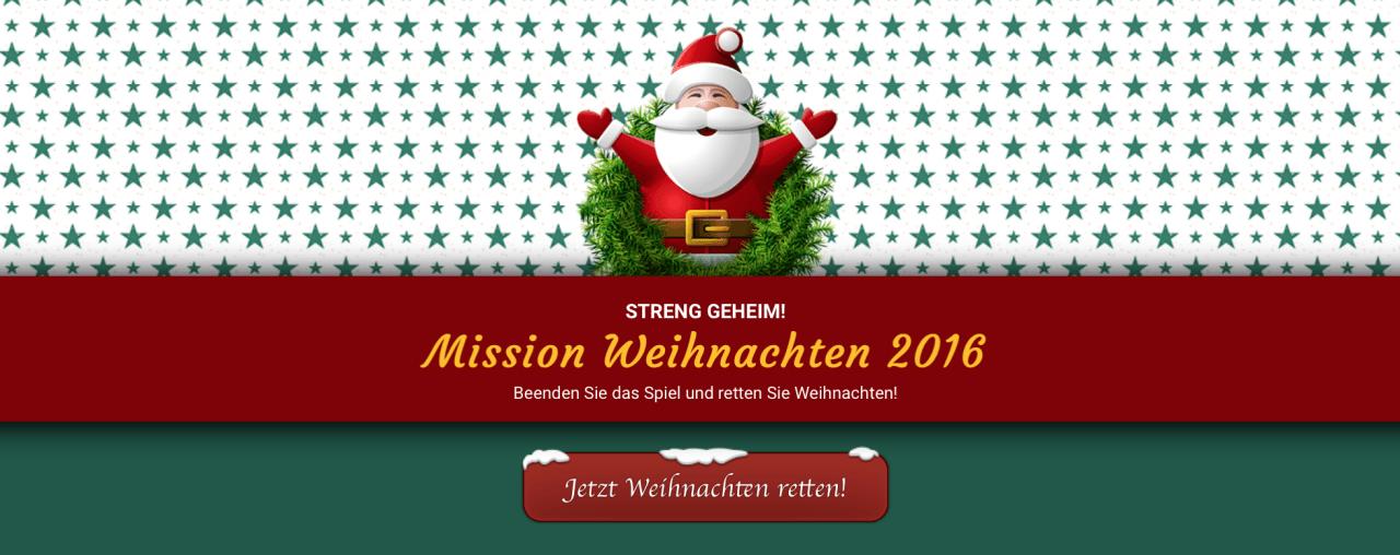 Wir starten Mission Weihnachten 2016 und sagen DANKE