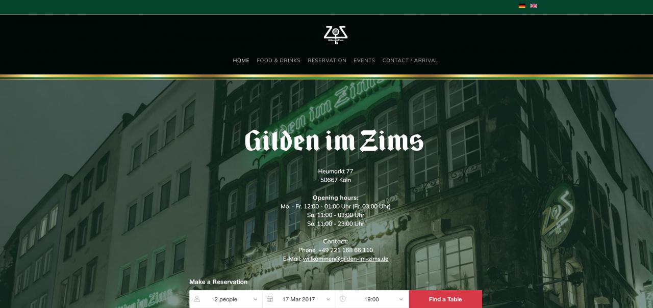 Neue Gilden im Zims-Website ist online