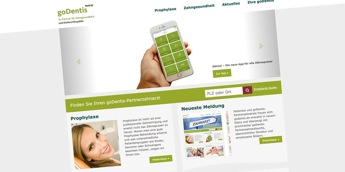 godentis Website mit WordPress