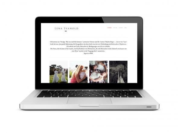 Die neue WordPress Website von Fotografin Lena Svanold