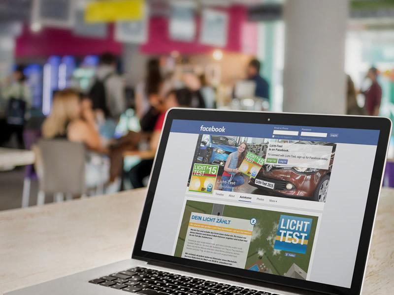 Lichttest Facebook Autokorso